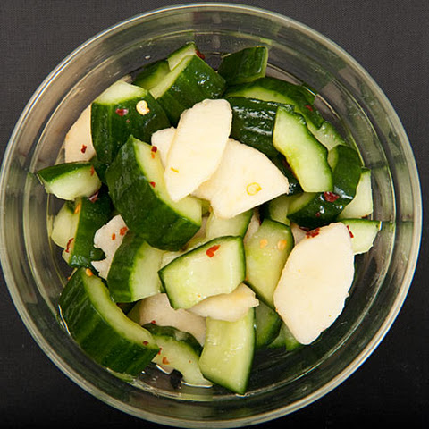 Cucumber and nashi (Asian pear) marinated salad