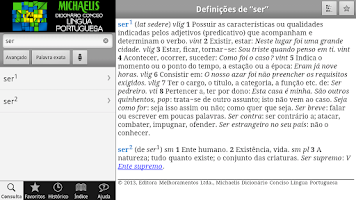 Screenshot of Michaelis Conciso Português