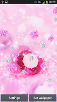 Screenshot of Pink Diamonds Live Wallpaper