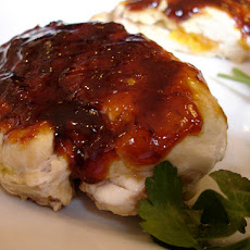 Delicious Raspberry Glazed Grilled Chicken