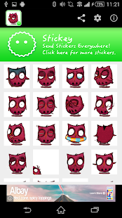 Stickey Cute Owl - screenshot