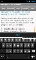 Screenshot of Small Business Coach & Plan