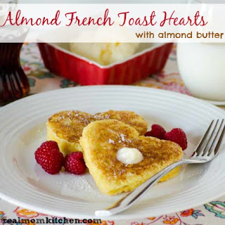 Almond French Toast Hearts with Almond Butter