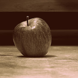 Apple by Christopher Solomon Raj - Food & Drink Fruits & Vegetables ( canon, fruit, sepia, zoom, apple )