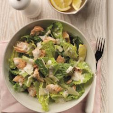 Poached Salmon with Quick Caesar Salad