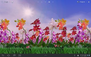 Screenshot of Orchids Free Live Wallpaper