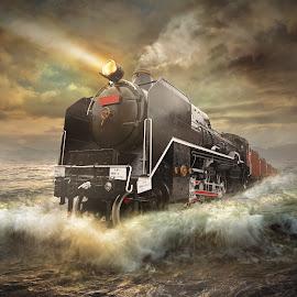 sea train by Even Liu - Digital Art Places