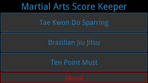 Martial Arts Score Keeper