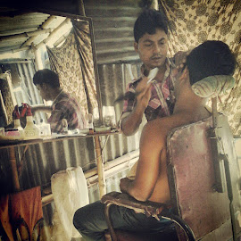 # by Arijit Banerjee - Instagram & Mobile Android ( salon, road, roadside, shabby )