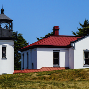Admiralty Head Lighthouse by Brian Stout - Buildings & Architecture Public & Historical ( washington, ft casey, lighthouse, historical, admiralty head )