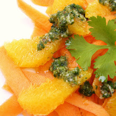 Carrot & Orange Salad with a Coriander & Brazil Nut Dressing
