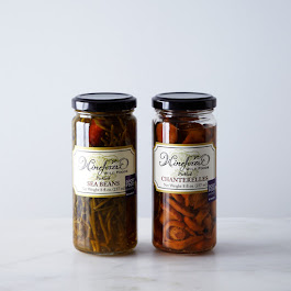 Pickled Sea Beans and Wild Chanterelles