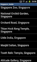 Screenshot of SINGAPORE Map Tour