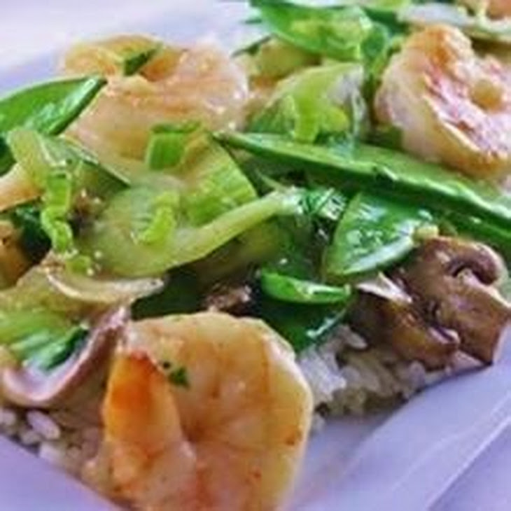 Stir-Fried Shrimp with Snow Peas and Ginger Recipe | Yummly