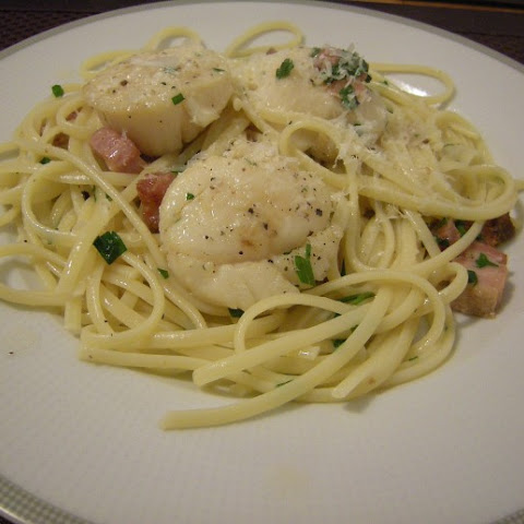 Linguine with Scallops and Pancetta