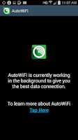 Screenshot of Cricket's AutoWiFi