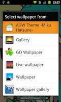 Screenshot of ADW Theme -Miku Hatsune-