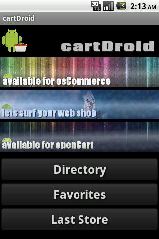 osCommerce openCart Catalog