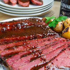 Guinness Glazed Slow Cooker Corned Beef