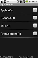 Screenshot of Shopping List Plus