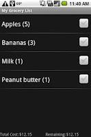 Screenshot of Shopping List Plus