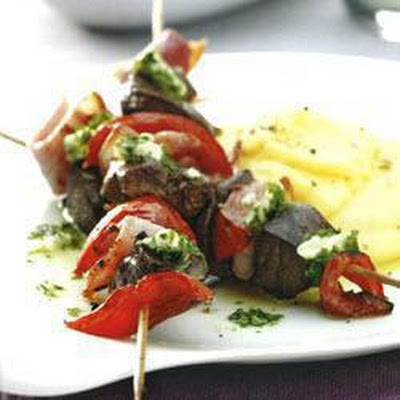 Liver And Bacon Kebabs