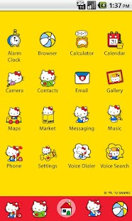 Hello Kitty Penguin Theme - screenshot