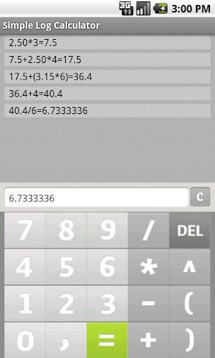 簡單的日誌計算器免費