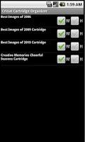 Screenshot of Cricut Cartridge Organizer