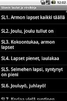 Screenshot of Siionin laulut ja Virsikirja