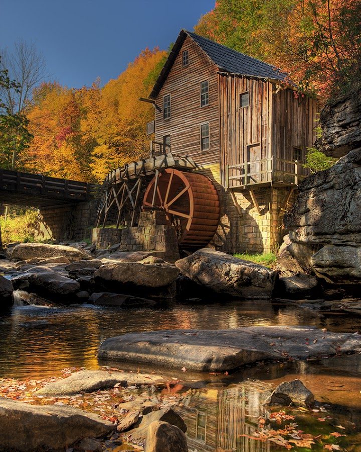 by Walter Farnham - Buildings & Architecture Public & Historical ( water, mill, west virginia, fall, beckley,  )
