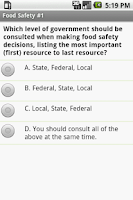 Screenshot of Food Safety Exam Prep