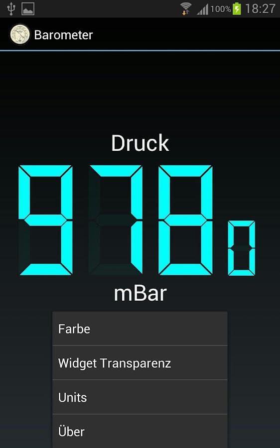 Barometer – Screenshot