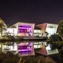 Academy of Performing Arts by Jake Ngawaka - Buildings & Architecture Other Exteriors ( building, university, waikato, lake, night, academy )