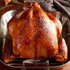 Cider Bourbon-Glazed Roast Turkey with Shallot Gravy