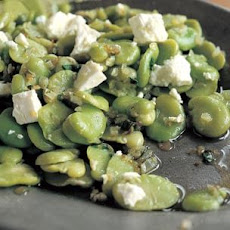 Fava Bean Sauté with Marjoram and Feta