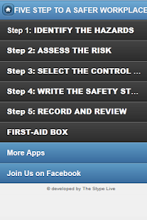 Five step to a safer workplace - screenshot