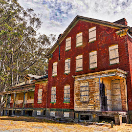 Aged Beauty by Diane Clontz - Novices Only Landscapes ( california, angel island, old building, landscape, san francisco )