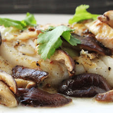 Pan-Seared Fish with Shiitake Mushrooms