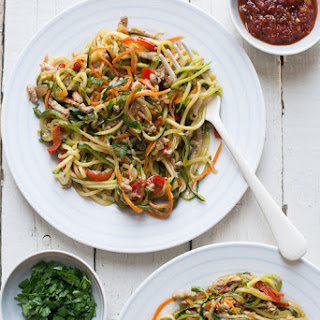 Zucchini Noodles Chow Mein Recipe with Ground Pork