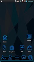 Screenshot of Next Launcher - Blue Theme