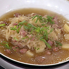 Sauerkraut Soup with Sausage