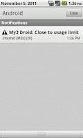 Screenshot of My3 Droid (Three Usage Check)