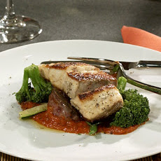Sea Bass with Warm Vegetable Salad