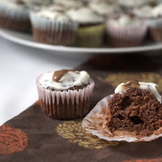 Moist Chocolate Banana Whole Wheat Cupcakes