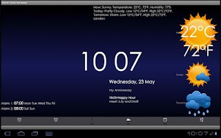 Screenshot of Alarm Clock Harmony