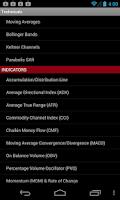 Screenshot of Technical Indicators