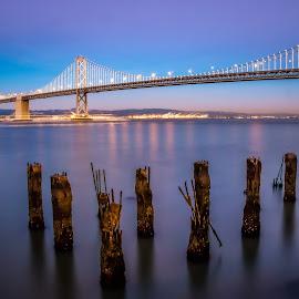Oakland Bridge by Mike Vought - Buildings & Architecture Bridges & Suspended Structures