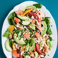Heart Healthy Citrus-Avocado Salmon Salad