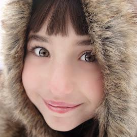 Smiley in Fur by Cheryl Korotky - Babies & Children Child Portraits